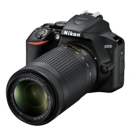 Nikon DSLR D3500 18-55VR & 70-300VR kit Black