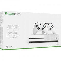 Microsoft Xbox One S 1TB + 2nd Controller + NBA 2k20